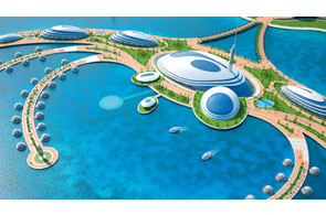 resort de lujo en qatar flotante