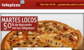 Pizzas baratas a 4,95 los martes