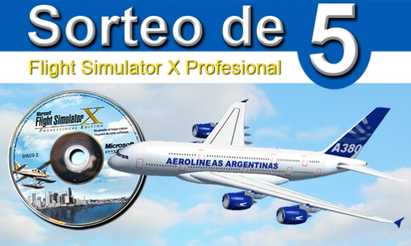 sorteo de flight simulator